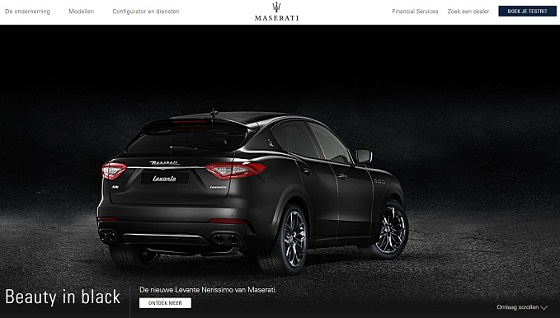 Maserati Website 18 homepage
