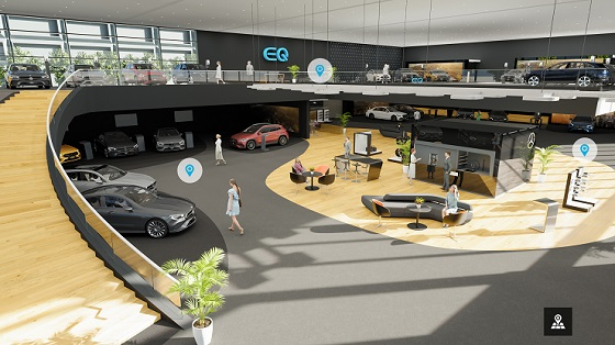 Mercedes Benz virtuele showroom 21 overzicht