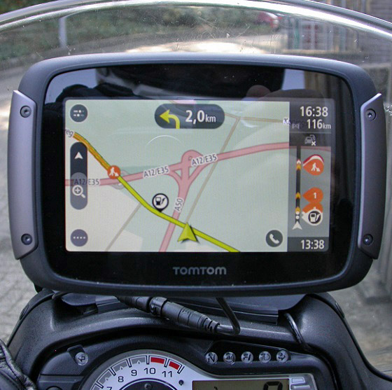 TomTom Rider 550 18 terug Papendal