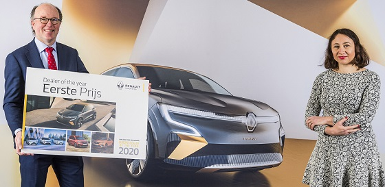 Renault dealer Oving Dealer of the Year 2020 21