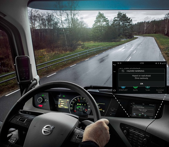 Volvo Connected Safety 18 truck dash