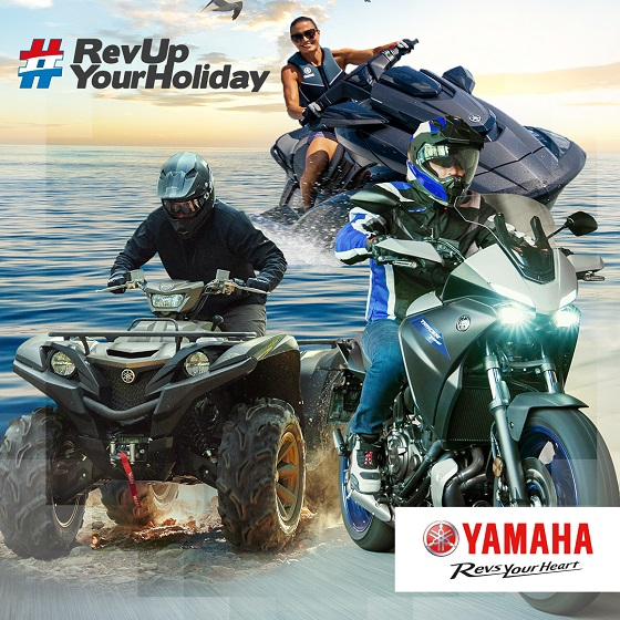 Yamaha RevUp YourHoliday 20 flyer
